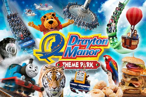 Drayton Manor – 1 Day Ticket + Burger Kitchen Meal Deal