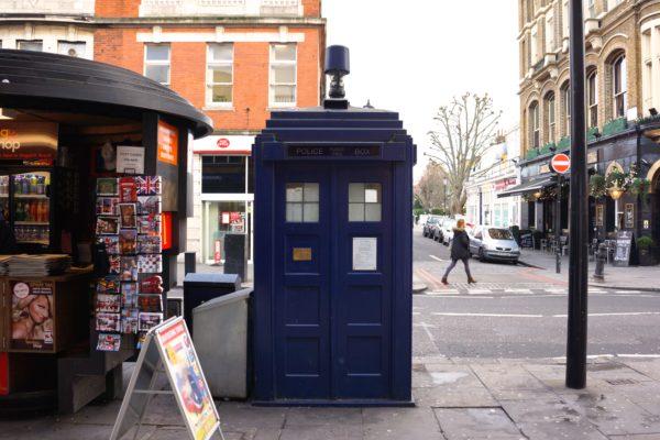 doctor who police box tardis london earl's court