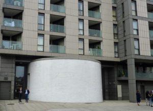 Clapham South deep-level shelter pillbox entrance