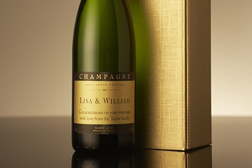 Personalised Champagne in Gold Gift Box