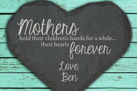 Personalised 'Mothers Hold Hands' Slate Keepsake