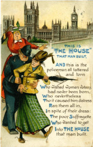 Anti‐suffrage postcard, c. 1912–14
