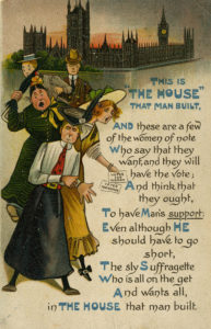 Anti-suffrage postcard, c. 1912–14