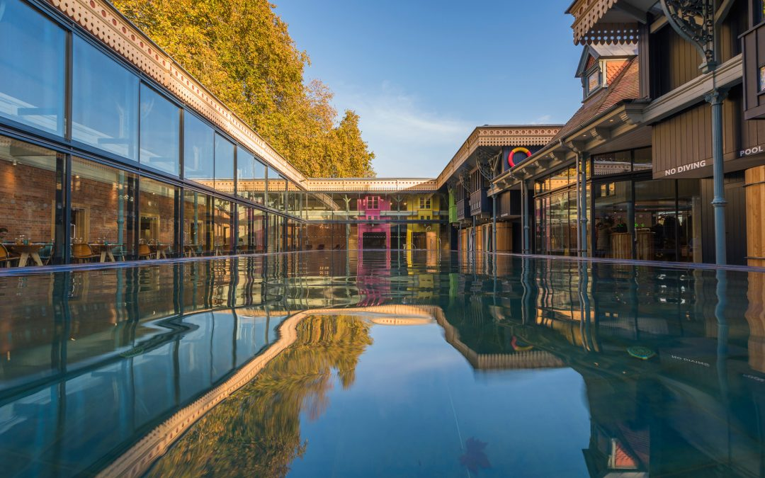 Leave London for a restored Edwardian pool on the Thames