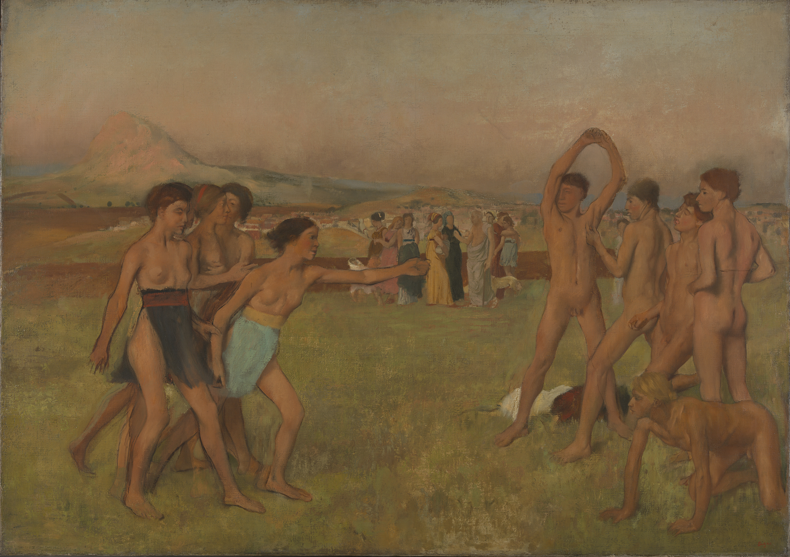 Young Spartans Exercising - Hilaire-Germain-Edgar Degas about 1860