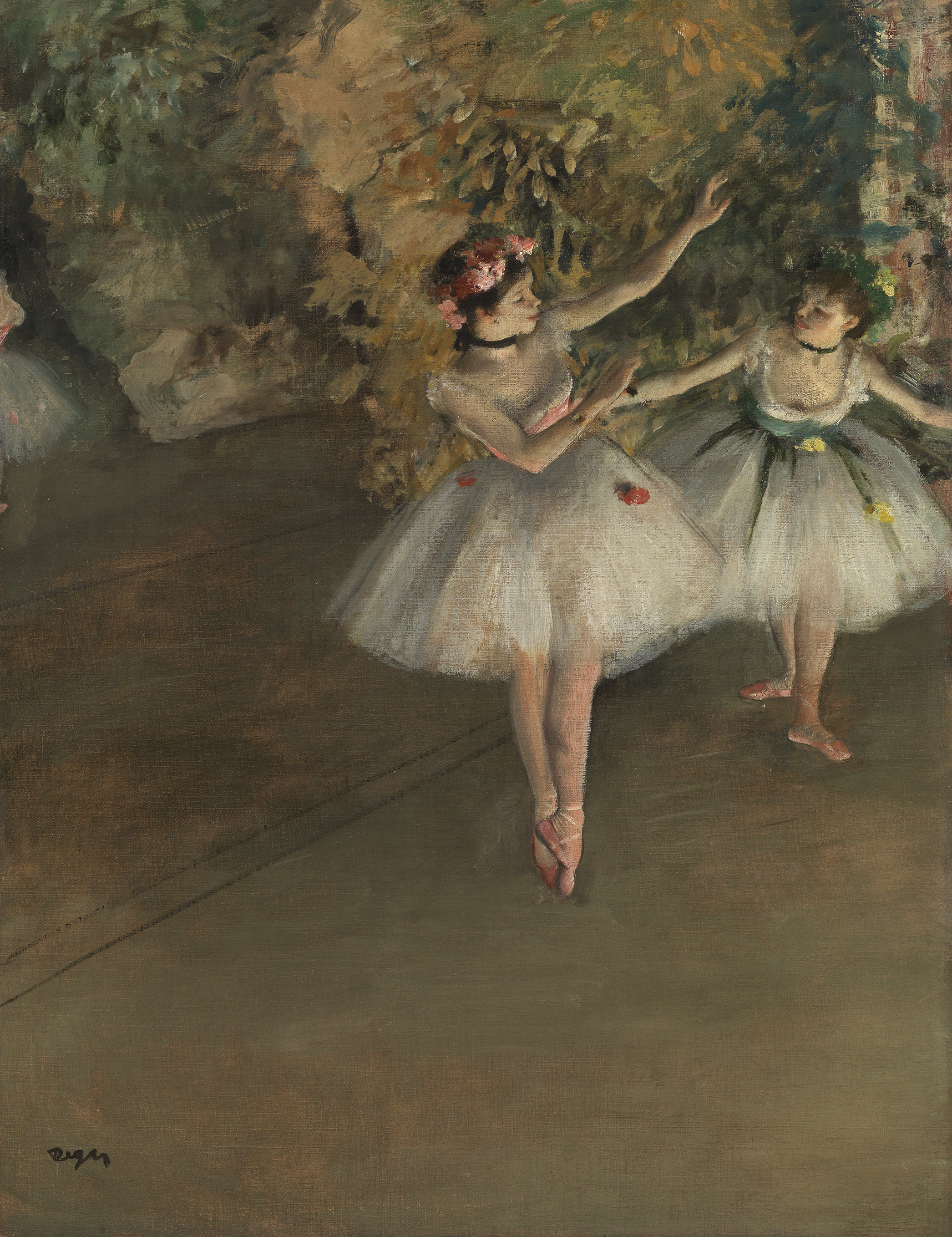 Two Dancers on a Stage - Hilaire-Germain-Edgar Degas, 1874