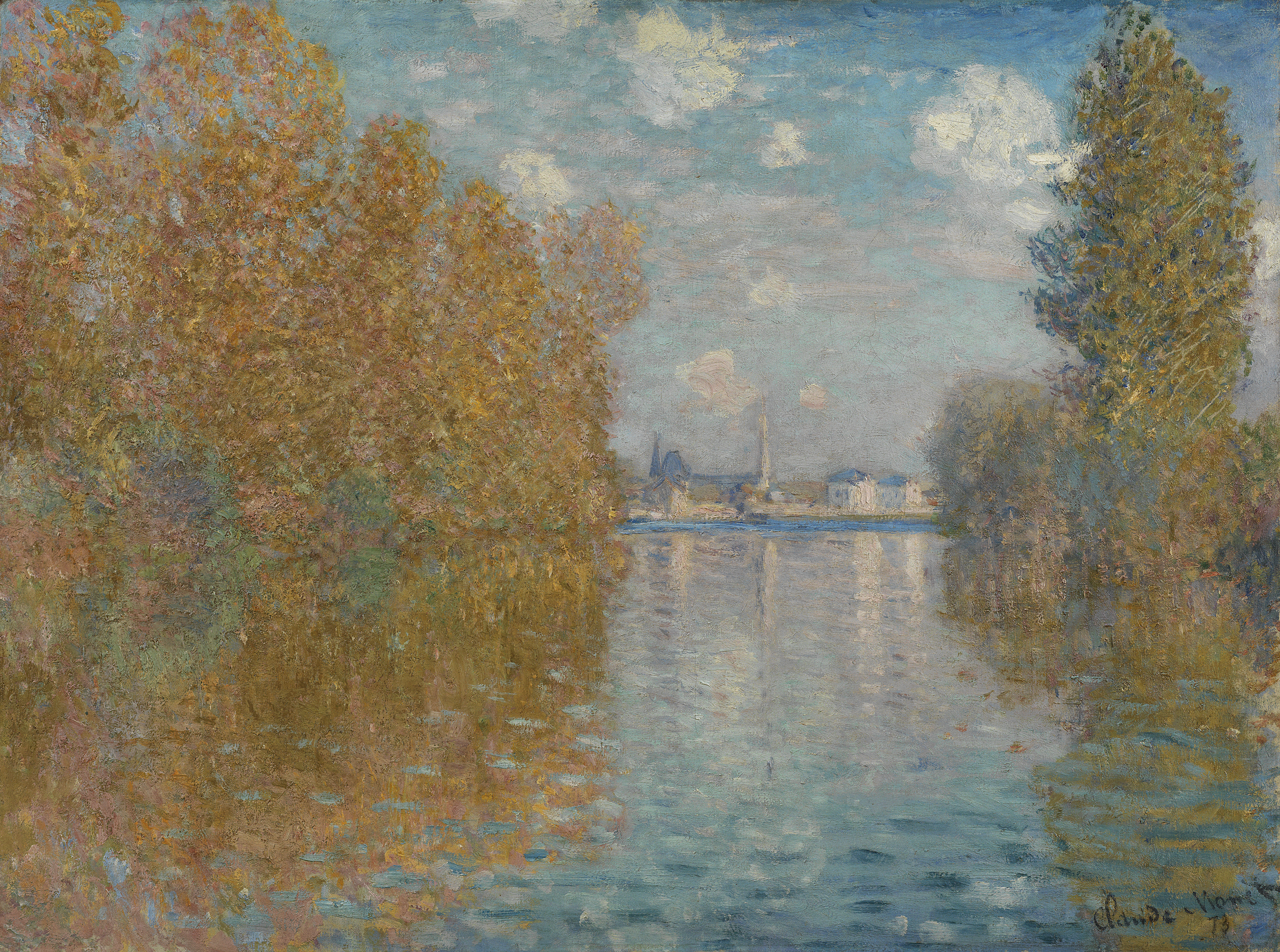 Autumn Effect at Argenteuil - Claude Monet, 1873