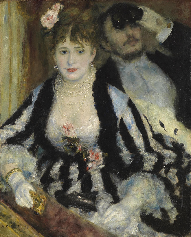 La Loge (Theatre Box) - Pierre-Auguste Renoir, 1874