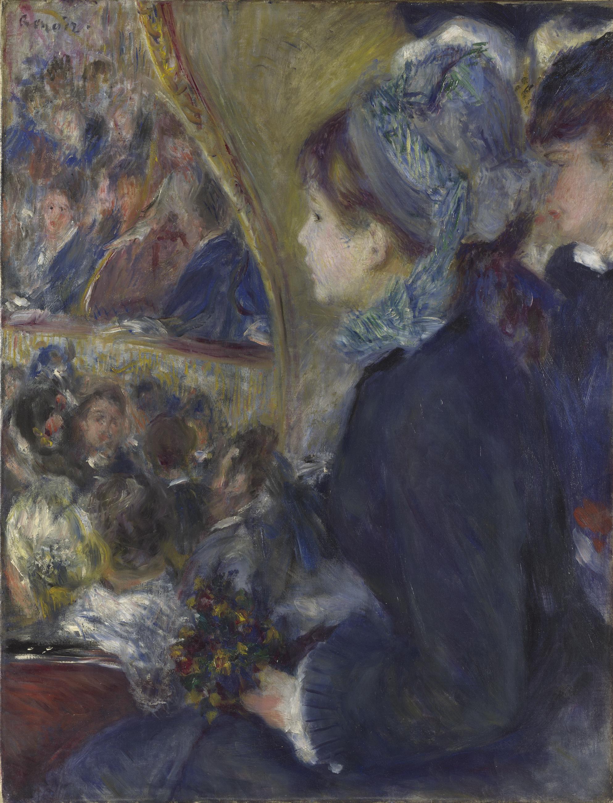 At the Theatre (La Première Sortie) - Pierre-Auguste Renoir 1876-7