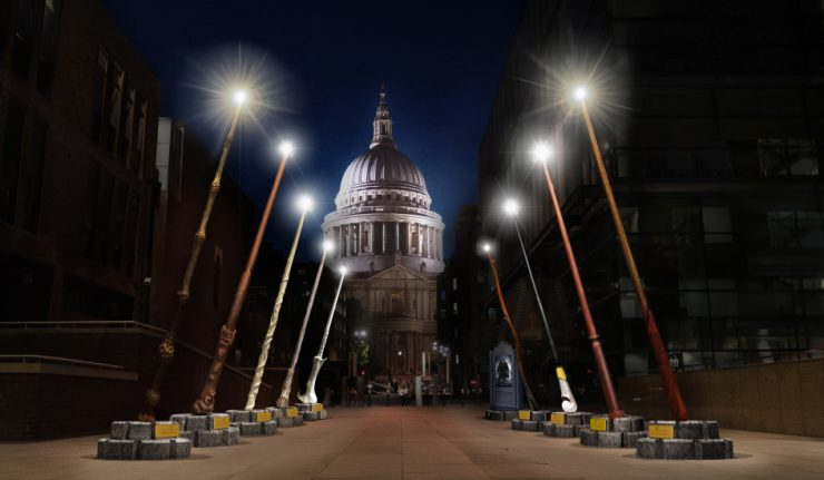 London Alert: Giant Harry Potter Wands to Light Up the Path to St Paul's from October to November