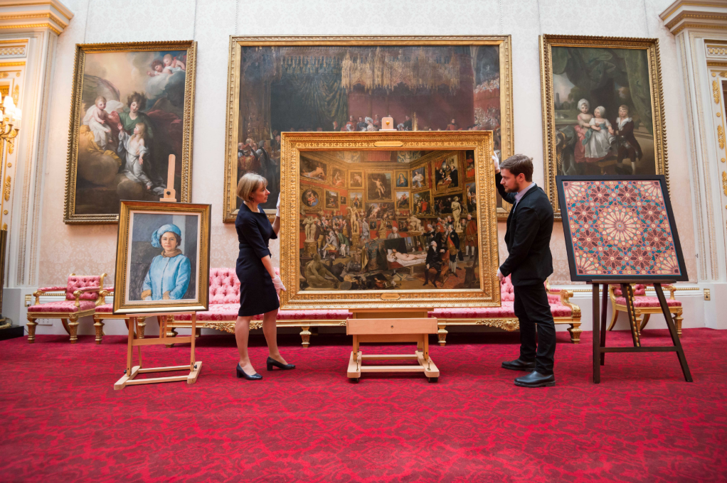 Among the works selected by His Royal Highness from the Royal Collection is Johan Joseph Zoffany's painting The Tribuna of the Uffizi, 1772-77, showing connoisseurs and Grand Tourists admiring the Grand Duke of Tuscany's collection in the Uffizi, Florence. Royal Collection Trust / (c) Her Majesty Queen Elizabeth II 2018