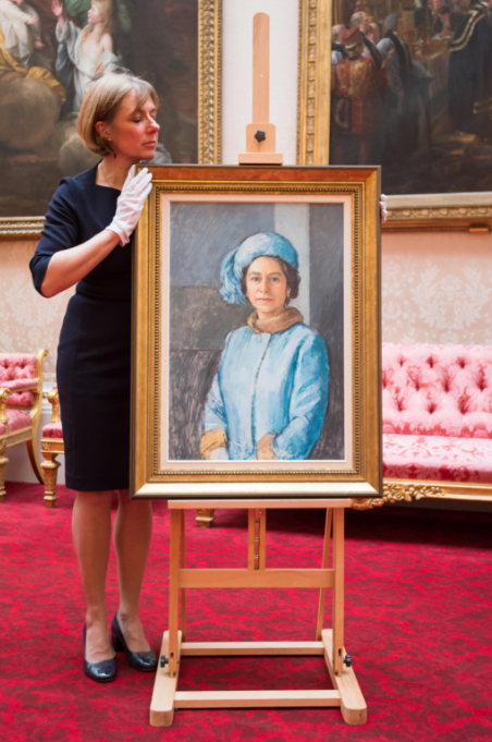 A selection of works from His Royal Highness's personal collection will also feature in the display, including the oil sketch HM The Queen, 1972-3, by Michael Noakes. Purchased by The Prince of Wales in 1973, it usually hangs in the Morning Room of Clarence House. Royal Collection Trust / (c) Her Majesty Queen Elizabeth II 2018