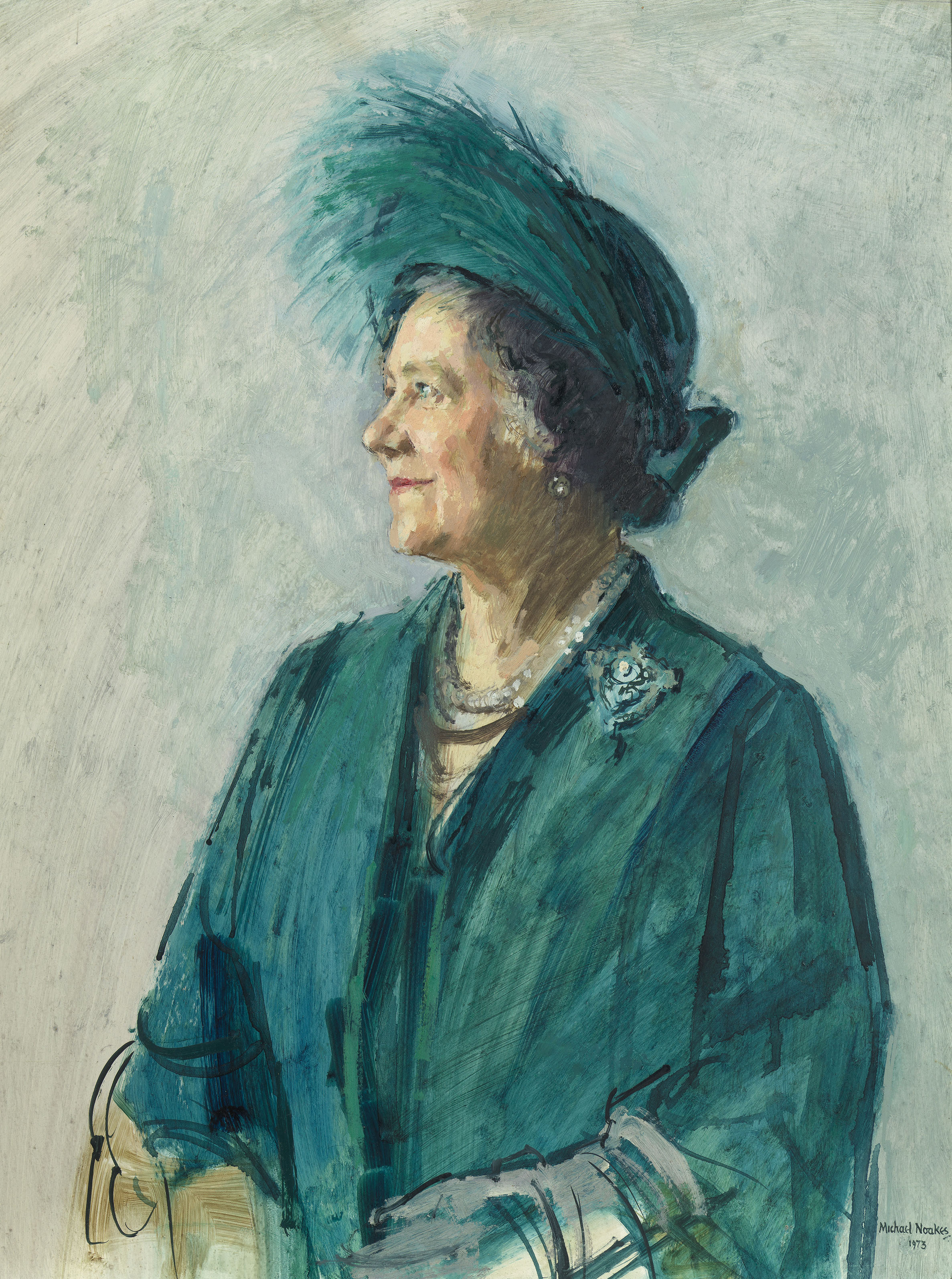 Michael Noakes - Queen Elizabeth The Queen Mother © Anya and Jonathan Noakes