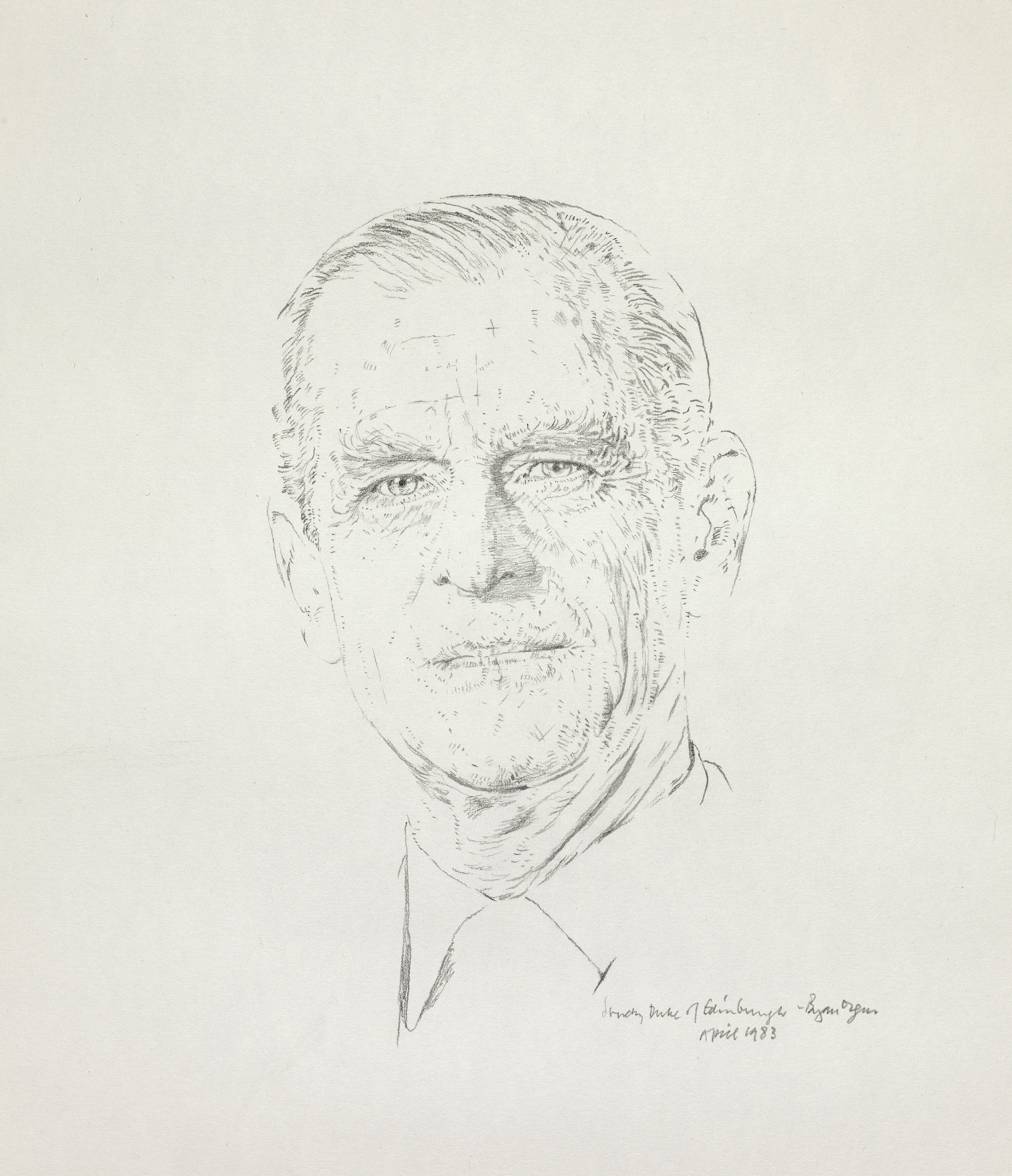 Bryan Organ, HRH The Duke of Edinburgh, 1983