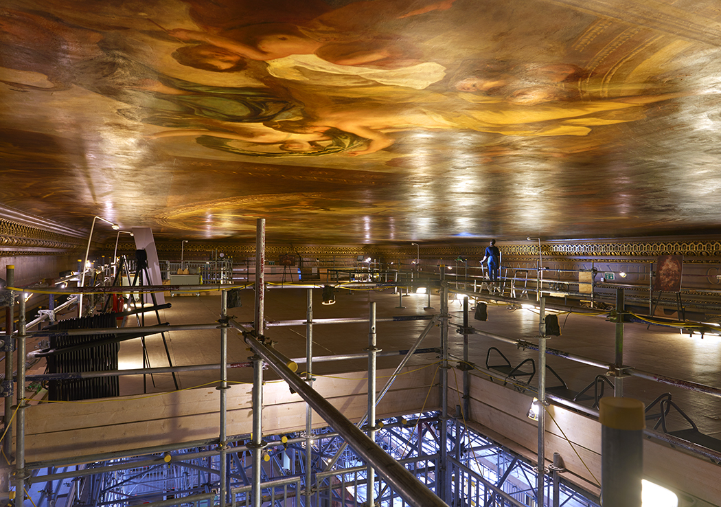 Painted Hall ceiling