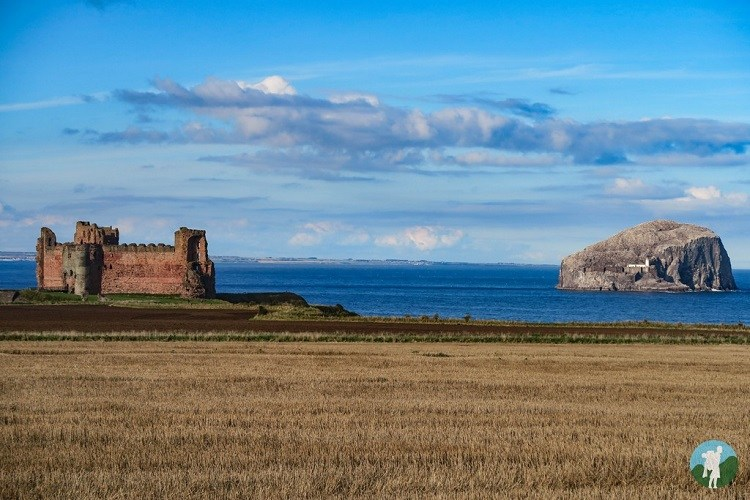 castles near edinburgh tantallon bass lothian