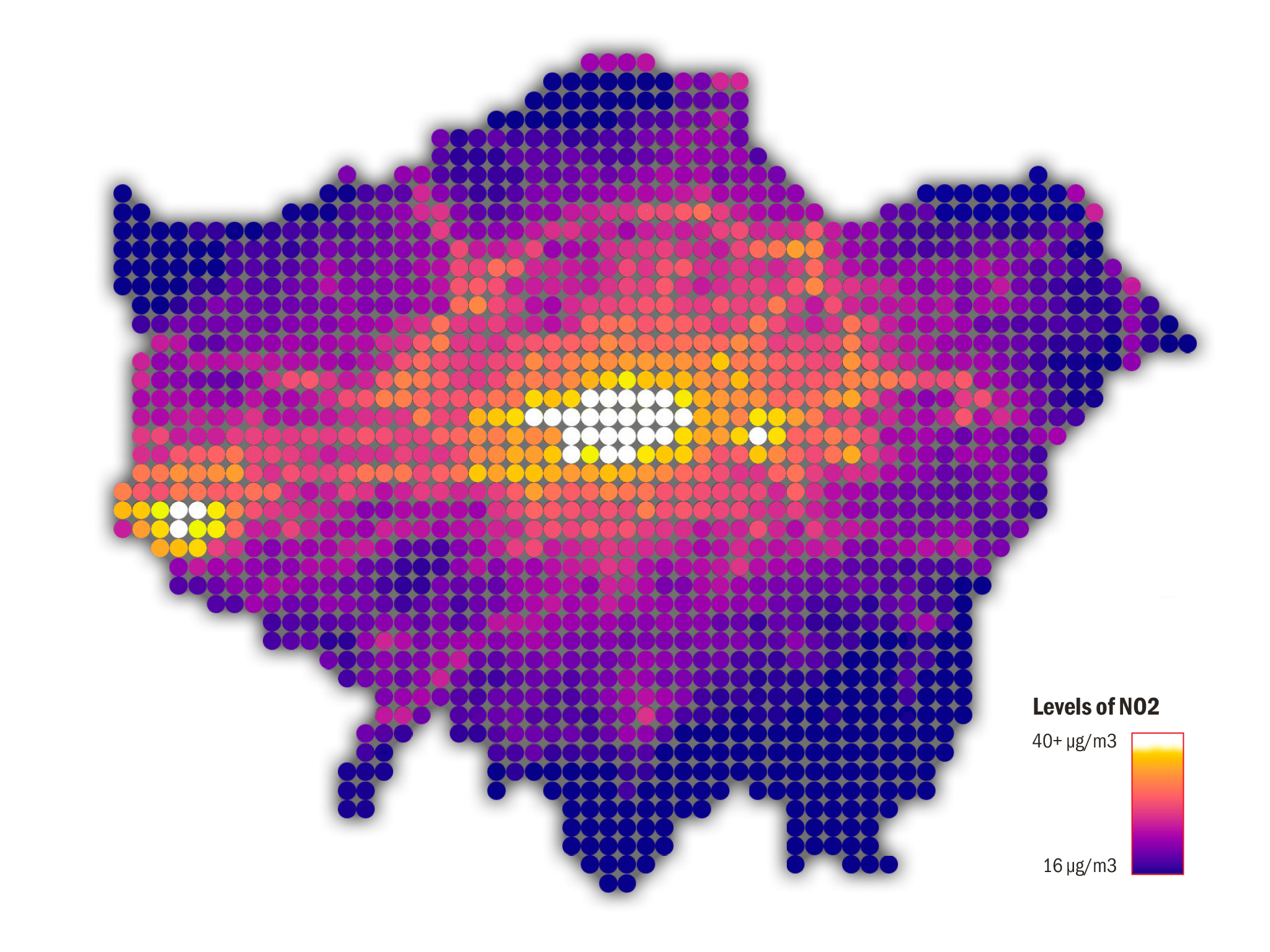 A map of London's most polluted areas