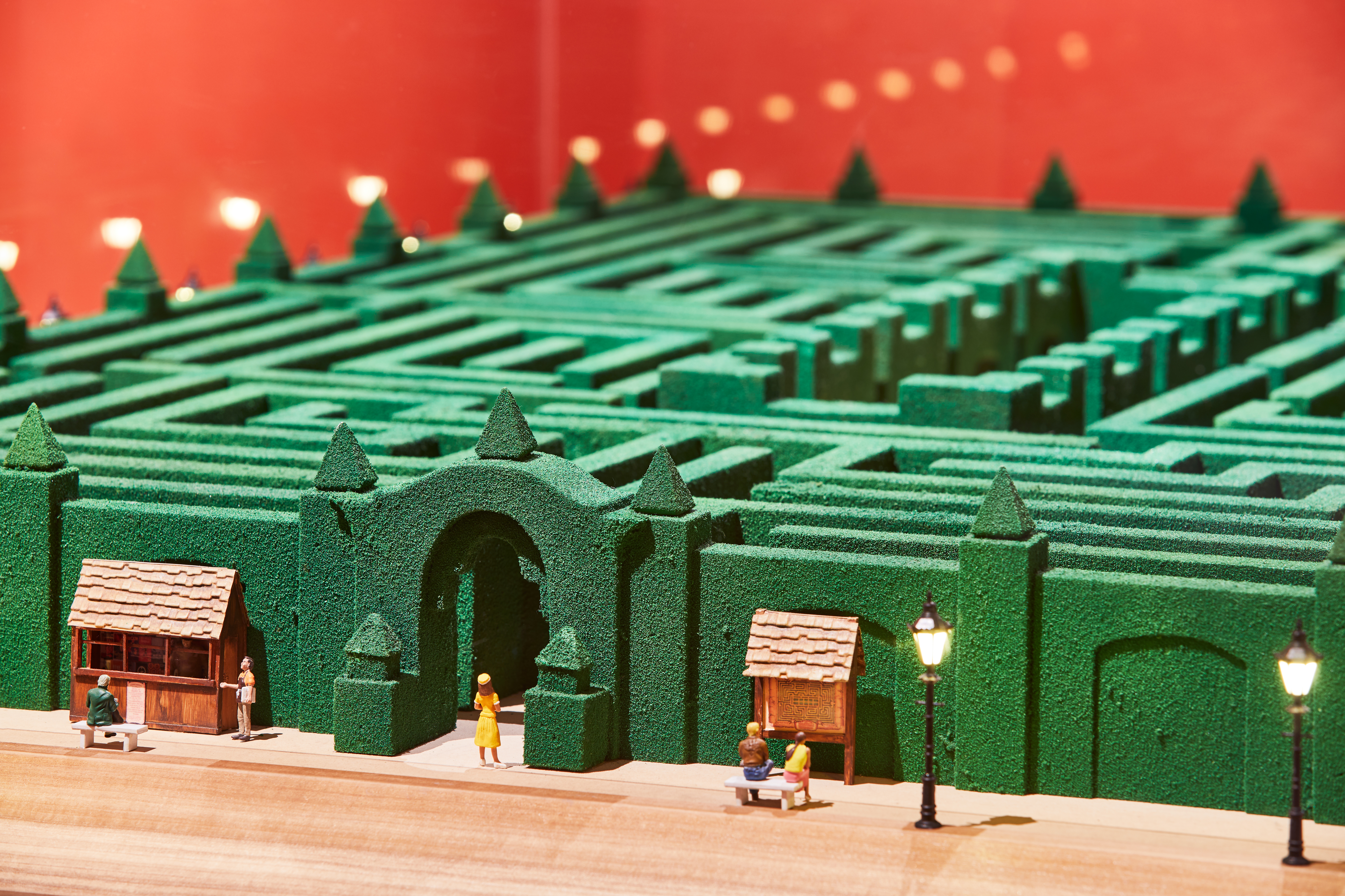 Model of the maze from The Shining