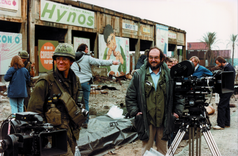 Matthew Modine and Stanley Kubrick on the set of Full Metal Jacket, directed by Stanley Kubrick © Warner Bros. Entertainment Inc.