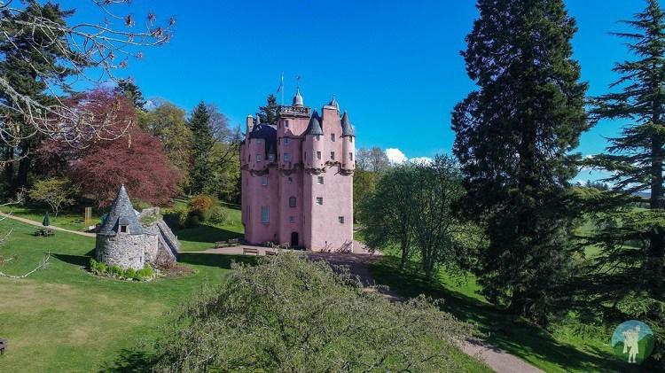 craigievar castle drone