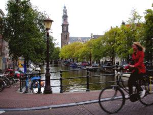 amsterdam bike rider