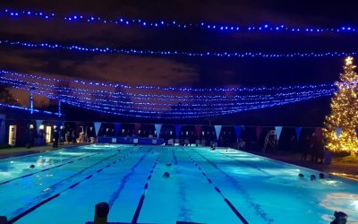 You can swim beneath the stars in this (heated) London swimming pool