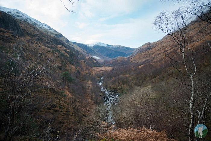 glen nevis winter scottish highlands