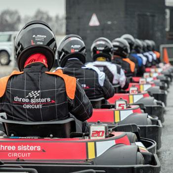Outdoor Karting at Three Sisters Circuit