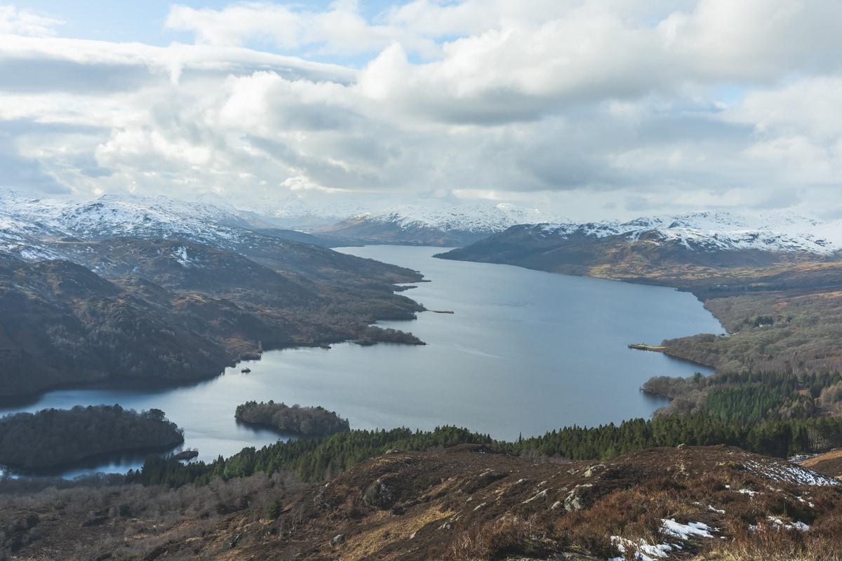 ben a'an summit near callander scotland national park uk