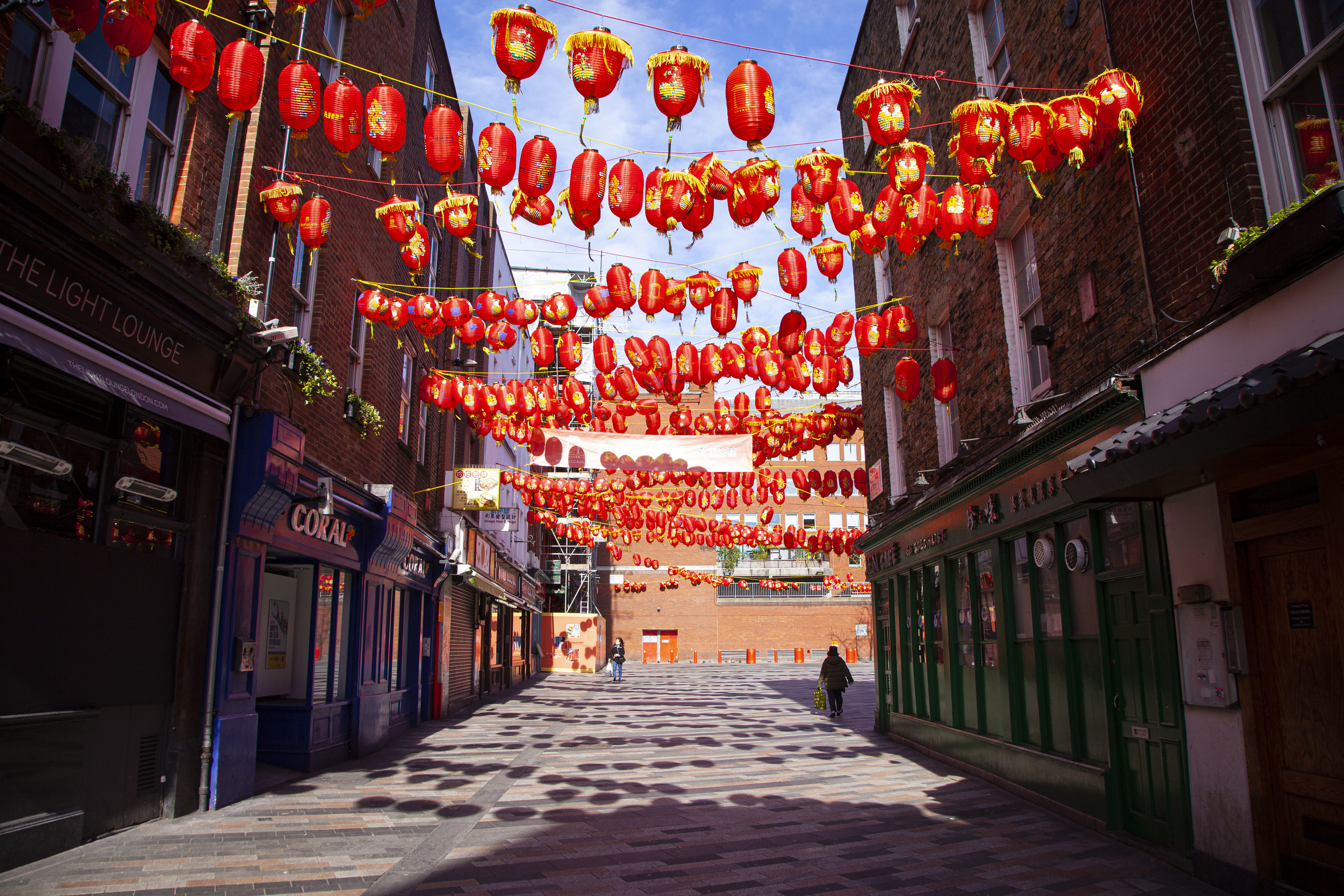 Empty Chinatown during lockdown in London