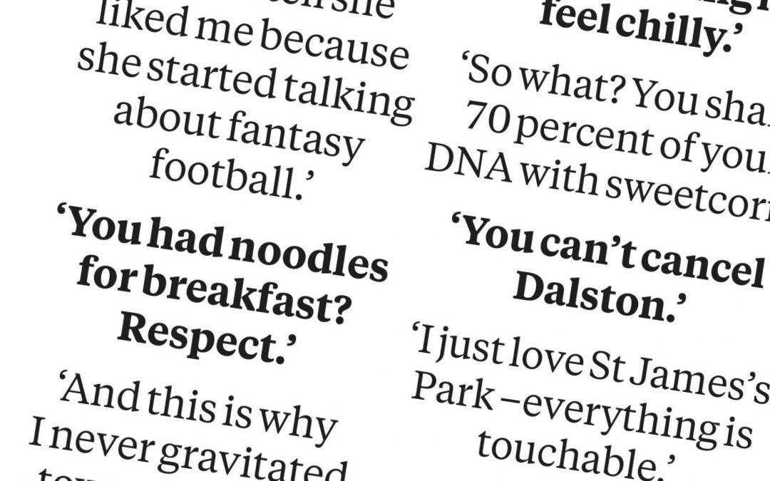 Overheard in London: this week's #wordonthestreet