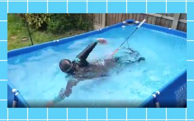 This Londoner is swimming 2.6km in a paddling pool in her back garden