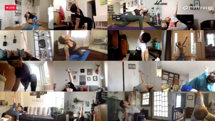 classpass, virtual workouts