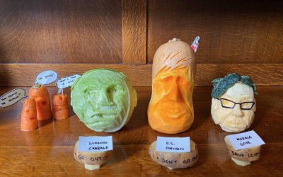 See the punderful vegetable sculptures from the virtual Lambeth Country Show
