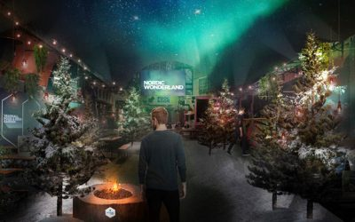 A Nordic winter wonderland complete with Northern Lights is popping up in London