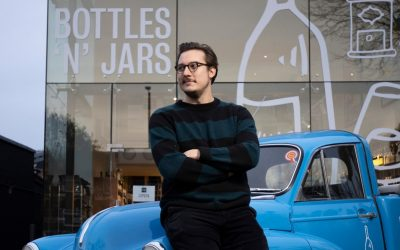An awesome wine shop has opened in a London car showroom