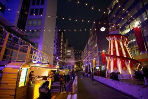 Selfridges is hosting an open-air Christmas market filled with street food